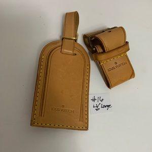 Louis Vuitton Luggage large name tag set